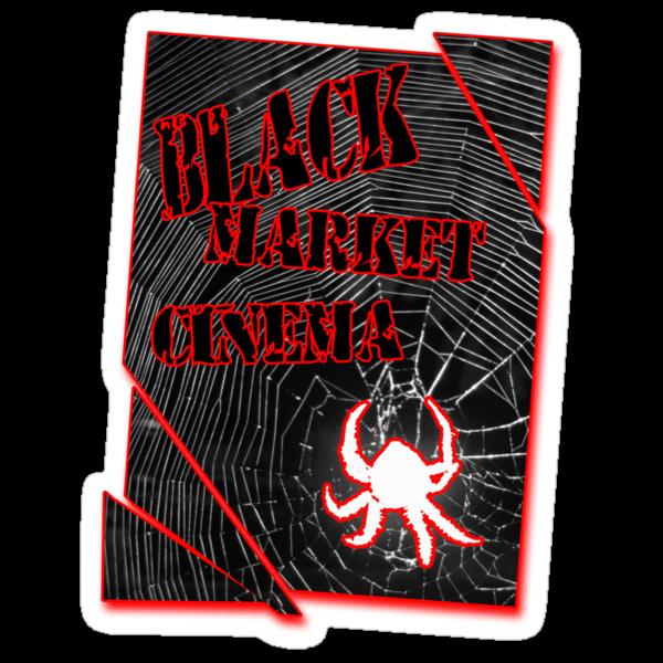 Black Market Cinema Spider logo t-shirt by dustyvinylstore