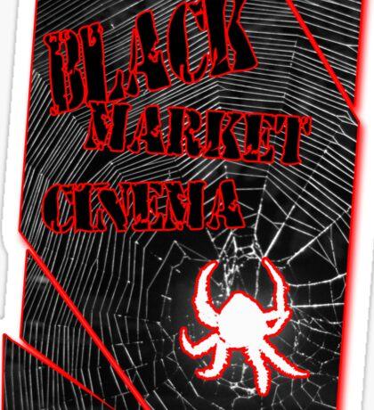 Black Market Cinema Spider logo t-shirt Sticker