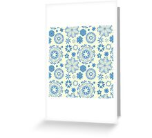 Round ornament seamless pattern Greeting Card