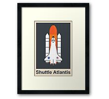 Shuttle Atlantis (Night) Framed Print