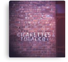 cigarettes & tobacco etc... Canvas Print