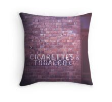 cigarettes & tobacco etc... Throw Pillow