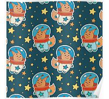 Astro squirrel pattern Poster