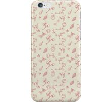 Mini romantic handpainted seamless pattern iPhone Case/Skin