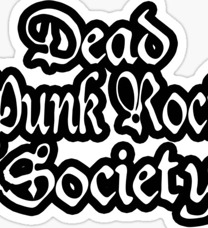 Dead Punk Rock Society Sticker