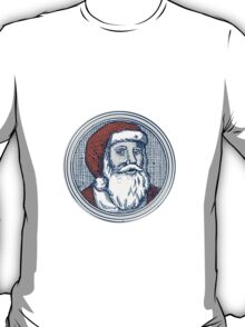 Santa Claus Father Christmas Vintage Etching T-Shirt