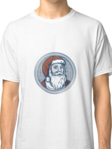 Santa Claus Father Christmas Vintage Etching Classic T-Shirt