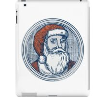 Santa Claus Father Christmas Vintage Etching iPad Case/Skin
