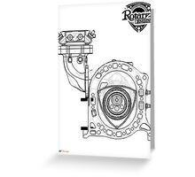 Mazda Rotary Engine Blueprint for Power 13B Greeting Card