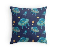 Ufo pattern Throw Pillow