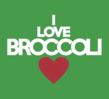 I love broccoli - red heart version by onebaretree