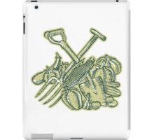 Spade Pitchfork Crop Harvest Etching iPad Case/Skin