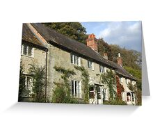 Stourhead Cottages Greeting Card