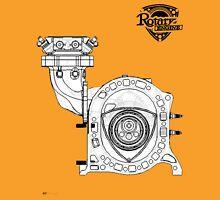Mazda Rotary Engine Blueprint for Power 13B Unisex T-Shirt