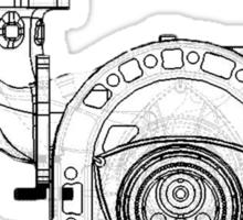 Mazda Rotary Engine Blueprint for Power 13B Sticker
