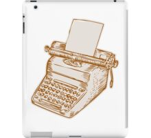 Vintage Old Style Typewriter Etching iPad Case/Skin