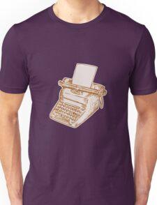 Vintage Old Style Typewriter Etching Unisex T-Shirt