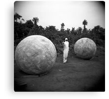 Between balls Canvas Print