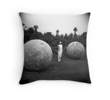 Between balls Throw Pillow