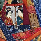 Japanese quilt detail by nadine henley