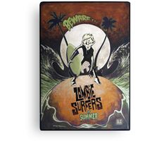 Zombie Surfers of Summer Canvas Print