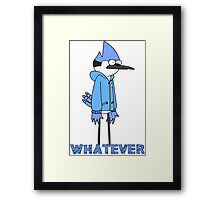 Regular show- Mordecai whatever Framed Print
