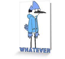 Regular show- Mordecai whatever Greeting Card
