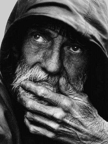 PENSIVE HOMELESS by Leroy Skalstad