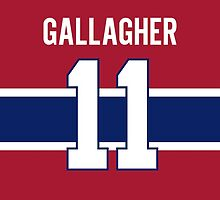 Montreal Canadiens Brendan Gallagher Jersey Back Phone Case by Russ Jericho