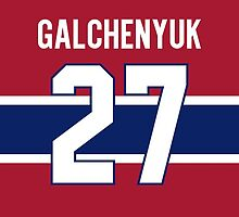 Montreal Canadiens Alex Galchenyuk Jersey Back Phone Case by Russ Jericho