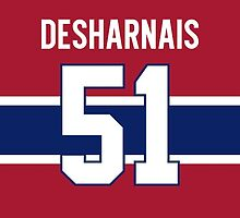 Montreal Canadiens David Desharnais Jersey Back Phone Case by Russ Jericho