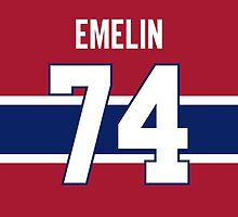 Montreal Canadiens Alexei Emelin Jersey Back Phone Case by Russ Jericho