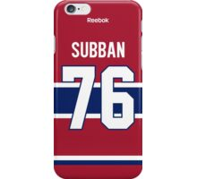Montreal Canadiens P. K. Subban Jersey Back Phone Case iPhone Case/Skin