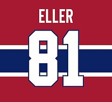 Montreal Canadiens Lars Eller Jersey Back Phone Case by Russ Jericho