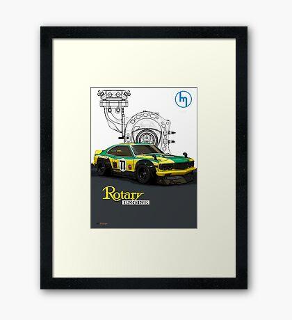 Mazda Rotary RX3 Savanna GT  Framed Print