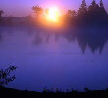 Glowing Globe at Sunrise by Helena Haidner