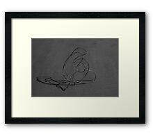 Ephemeral Sculpture Framed Print