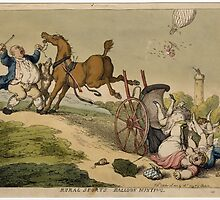 Rural Sports, Balloon Hunting, by T. Rowlandson by Adam Asar