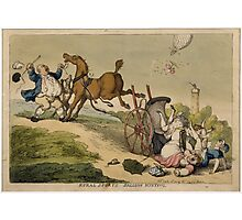 Rural Sports, Balloon Hunting, by T. Rowlandson Photographic Print