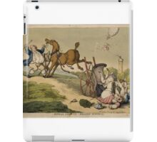 Rural Sports, Balloon Hunting, by T. Rowlandson iPad Case/Skin