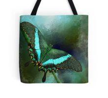 Emerald Peacock Swallowtail Tote Bag