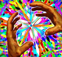 Healing Hands: Rainbow Warriors Mandala 3  by Christopher Birtwistle-Smith