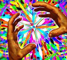 Healing Hands: Rainbow Warriors Mandala 3  by Christopher Birtwistle-Smith