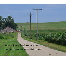 Old Dirt Road Photographic Print