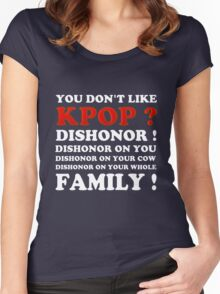DISHONOR ON YOU! - BLACK Women's Fitted Scoop T-Shirt