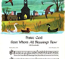 Praise God from Whom All Blessings Flow, Old English prayer by coralZ