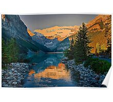 Canada. Banff National Park. Lake Louise in the morning. Poster