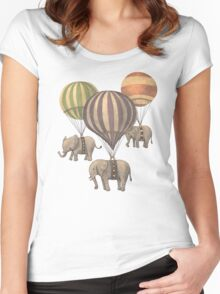 Flight of the Elephants Women's Fitted Scoop T-Shirt