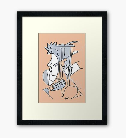 After Picasso - Cuatro Framed Print