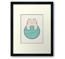 knit cat Framed Print